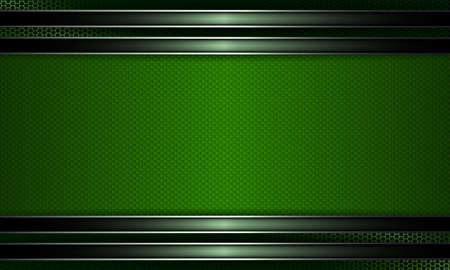 Geometric abstract textural background with a green shade frame and edging. Illustration