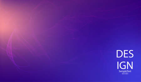 Abstract blue background with smooth thin abstract lines, haze.