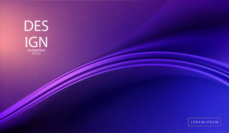 Abstract blue background with smooth graceful abstract lines Иллюстрация