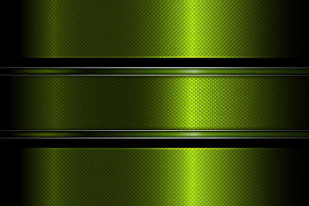 Geometric green abstract design with textured frame and edging. Illustration