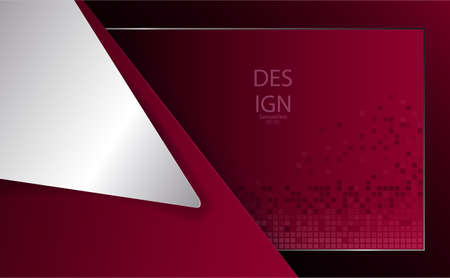 Abstract geometric red textural design with large white corner.