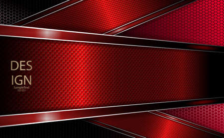 Abstract grid design with a textured red frame and border