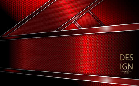 Abstract grid background with textural red frame and border 일러스트
