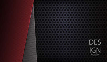 Abstract dark hole design with texture frames in red and gray.