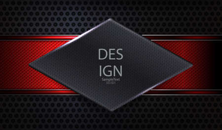 Geometric dark composition with a gray diamond-shaped texture frame Illusztráció