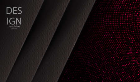 Geometric dark design with gray textural frames