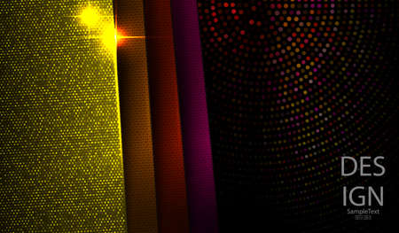 Geometric dark design with multicolored texture frames and glitter
