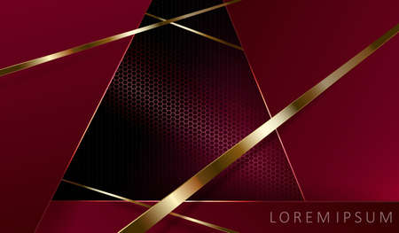 Geometric exquisite dark mesh composition with frames and gold stripes.