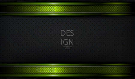 Abstract textural dark background with green frames