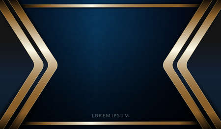Abstract dark blue texture composition with golden hue arrows. Illustration