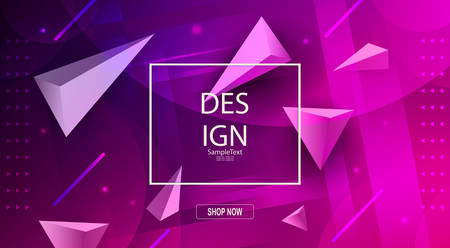 Abstract elegant purple design with a set of triangles and wide light stripes.
