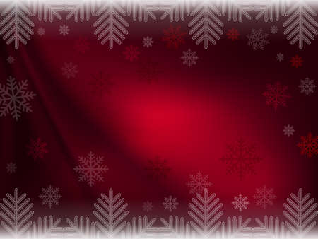 Christmas dark red composition with magnificent snowflakes.