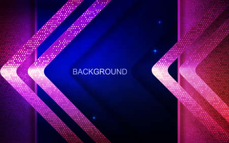 Dark blue design with pink arrows with shiny mosaic Фото со стока - 138869037