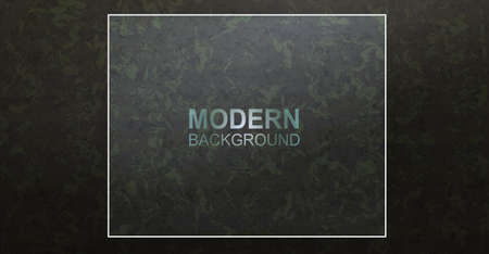 Dark textured green camouflage design with a square frame.