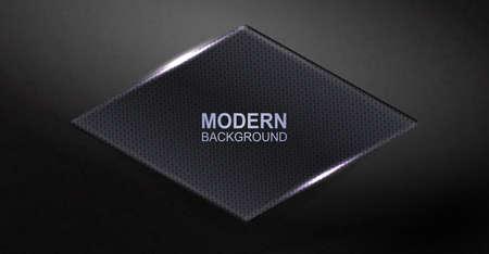 Dark elegant background with a shiny rhombus-shaped textured frame.