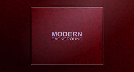 Dark red textured design with square frame, red marble effect Ilustrace