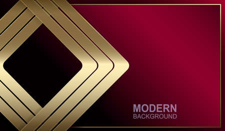Dark red background with arrows of gold color. Ilustrace