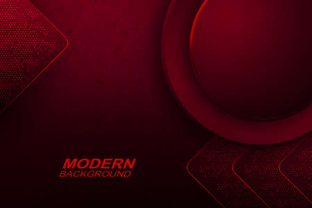 Dark red texture background with marble effect, round frame with a gradient, silhouettes of arrows with mosaic
