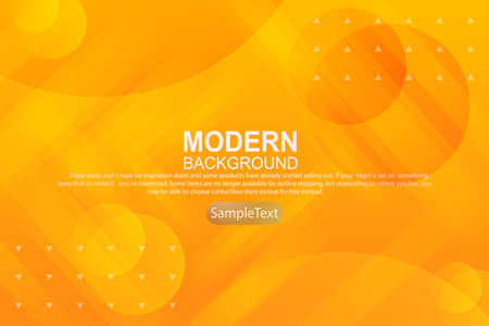 Yellow yellow abstract geometric background with light stripes and various circles. Иллюстрация