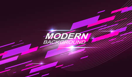 Dark geometric background with a gradient, pink and purple stripes are drawn obliquely.