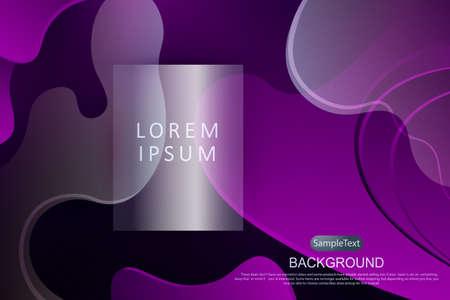 Violet dark design with gradient, abstract oval shapes, subtle light stripes. 向量圖像