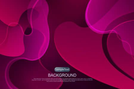 Dark pink design with a gradient, abstract oval shapes, wavy light stripes