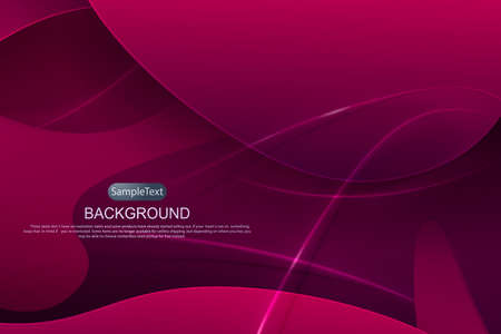 Pink dark design with a gradient, abstract oval shapes, thin stripes with shadow.