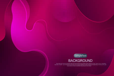 Pink composition with gradient, circles and abstract oval shapes and curved stripes