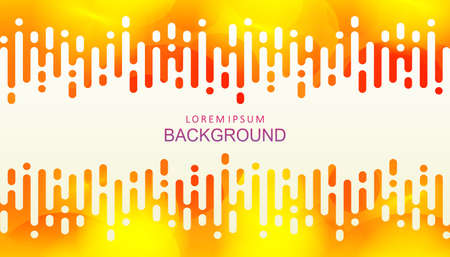 Abstract yellow design with gradient and a set of circles, vertical rounded stripes. 向量圖像