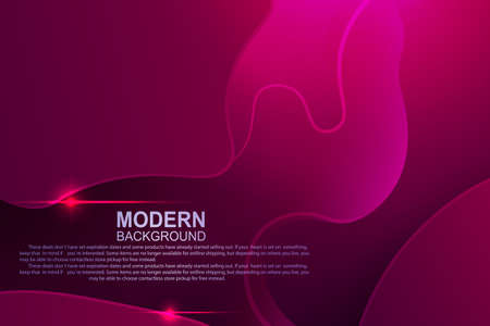 Dark pink composition with a gradient, abstract oval shapes and curved light stripes.