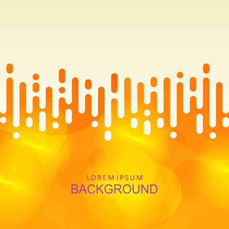 Abstract yellow background with gradient and a set of circles, vertical rounded stripes 向量圖像