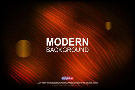 Abstract dark background with gradient, subtle orange wavy stripes 向量圖像
