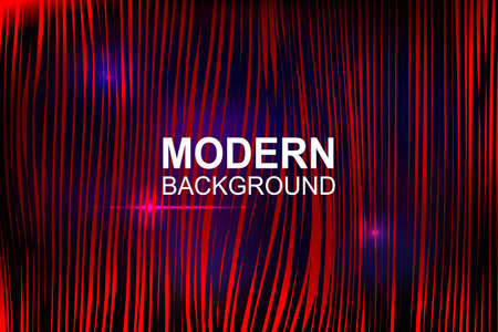 Abstract dark background with gradient, thin red vertical wavy stripes