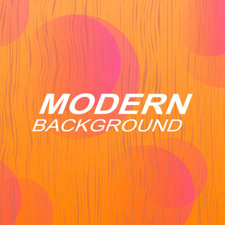 Abstract orange background with gradient, subtle vertical wavy stripes and pink outline in circles 向量圖像