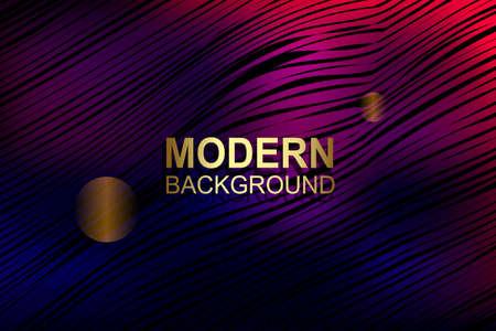 Abstract dark background with gradient, subtle purple wavy stripes. 向量圖像