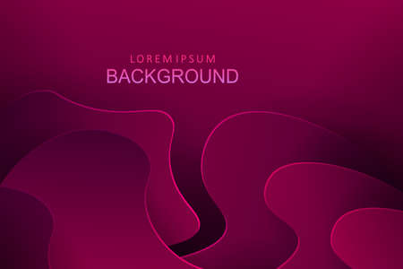 Dark pink composition with a gradient, abstract oval shapes with shadow.