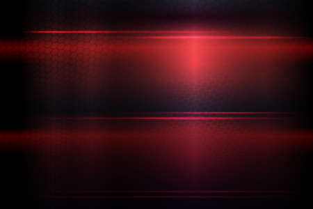 Dark red background with a gradient, silhouette mesh grid, shiny horizontal lines