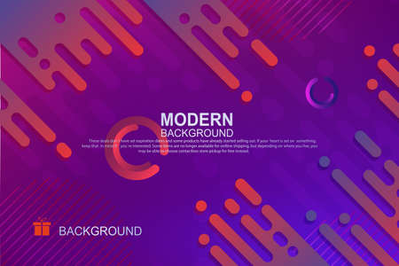 Abstract background with a gradient of blue and purple, the outlines of oblique rounded stripes. 向量圖像