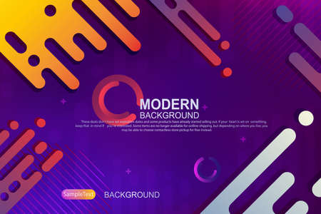 Abstract design with a gradient of blue and purple, the outlines of oblique colored rounded stripes 向量圖像