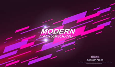 Dark geometric design with a gradient, pink and purple stripes are drawn obliquely 向量圖像