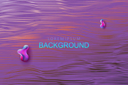 Abstract background with a gradient, thin wavy hair with a purple hue 向量圖像