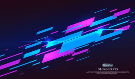 Dark geometric background with gradient, many oblique strips with glitter