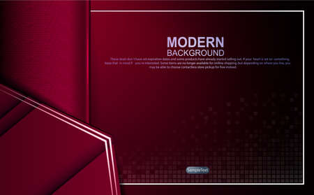 Dark red design with gradient and mosaic, outlines of a light rectangular frame of arrows silhouettes. 向量圖像