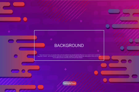 Abstract background with a gradient of blue and violet, outlines of horizontal rounded stripes.