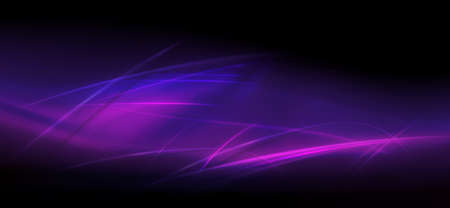 Dark design with a gradient of purple hue, a set of thin light lines with a shadow