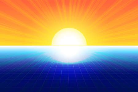 Composition of blue and yellow shades with a gradient, abstract imitation of the sun