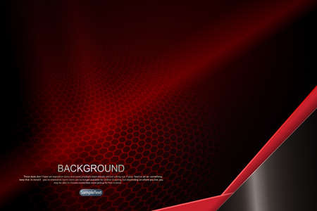 Abstract dark design in red with a mesh lattice silhouette, an oblique corner in brown and red shades