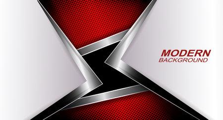 Textured dark red arrow design with metallic edging Иллюстрация