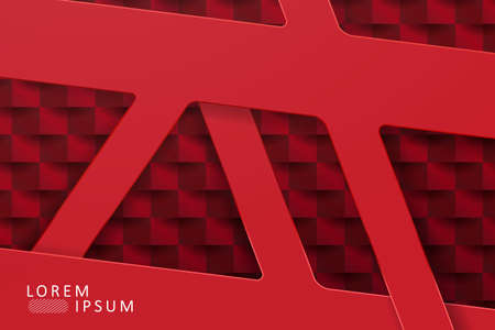 Texture design in red with a gradient, abstract geometric shapes 免版税图像 - 161485654