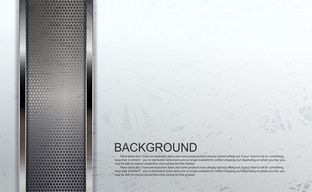 Textured white design with rectangular mesh frames with metallic border Ilustrace